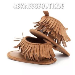 Shoes - Babygirl Leather Fringe Tassel Flat Sandals ☀️